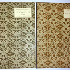 Lot 4 volume CROSETA / FRANJURI IMPLETITE - interbelice Biblioteque D.M.C. - Carte amenajari interioare