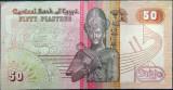 Bancnota 50 Piastri - Egipt   * Cod 818  varianta rosie XF+