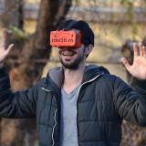 Ochelari VR Google Cardboard Print 3D Plastic - Realitate Virtuala