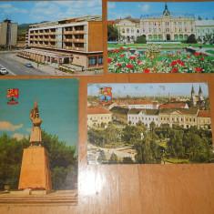 C.P BAIA MARE / SATU MARE - LOT 4 CARTI POSTALE, Ambele, Printata, Romania de la 1950