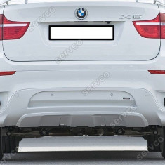 Prelungire spoiler fusta extensie bara spate BMW X6 E71 - Prelungire bara spate tuning, X6 (E71, E72) - [2008 - 2013]