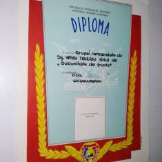 Diploma M.A.N. - R.S.R. - Militar de Frunte ~5~ - Diploma/Certificat