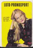bnk cl Calendar de buzunar 1985 Loto Pronosport