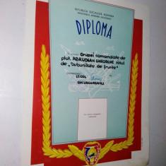 Diploma M.A.N. - R.S.R. - Militar de Frunte ~2~ - Diploma/Certificat