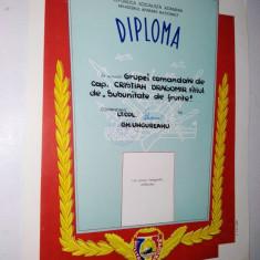 Diploma M.A.N. - R.S.R. - Militar de Frunte ~6~ - Diploma/Certificat
