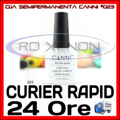 OJA SEMIPERMANENTA (PERMANENTA) WHITE #023 CANNI - MANICHIURA UV, Metalic