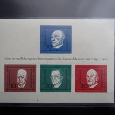 Bloc timbre Germania-Deutsche Bundespost-1968-nestampilat **