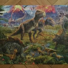 Puzzle Adunarea dinozaurilor, 500 piese Castorland, facut si lipit, Carton, 2D (plan)