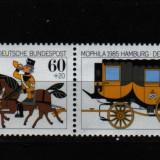 1985 germani mi. 1255-1256 conditie perfecta, Nestampilat