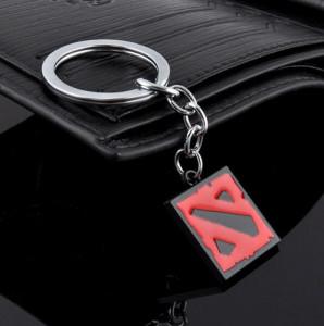 Breloc Pentru Chei - DOTA 2 - Calitate Foarte Buna - Rosu Cu Negru