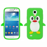 Husa silicon Samsung Galaxy S4 mini Green PINGUIN VERDE