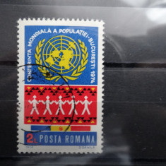LP855-Conferinta Mondiala a populatie-serie completa stampilata-1974