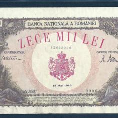 ROMANIA 10000 10.000  LEI   18  MAI   1945  [4]  XF+++