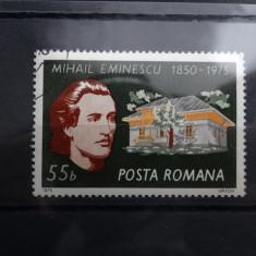 LP880-125 ani de la nasterea lui M Eminescu-serie completa-1975 - Timbre Romania, Stampilat