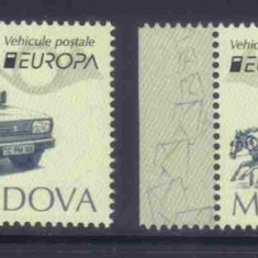 MOLDOVA 2013, Vehicule postale - EUROPA CEPT, serie neuzata, MNH, Nestampilat