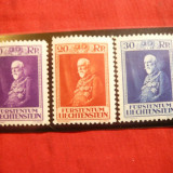 Serie- Ziua Printului Furst Franz I 1933 Liechtenstein, 3 val. sarniera, Nestampilat