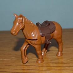 Figurina, jucarie cal maro, 9x7cm, plastic, decor, diorama, - Figurina Animale