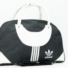 Geanta de sala de umar sau mana unisex Adidas + Cadou Surpriza - Geanta Dama Adidas, Culoare: Negru, Marime: One size, Geanta sport mare, Bumbac