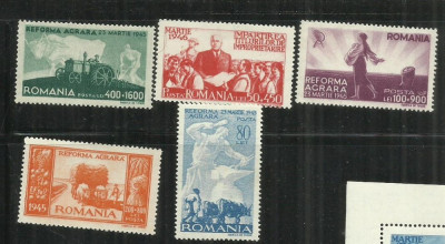 ROMANIA  1946 -  REFORMA AGRARA, MNH   - LP 190 foto