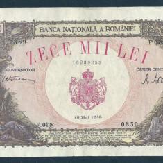 ROMANIA 10000 10.000 LEI 18 MAI 1945 [6] XF+ - Bancnota romaneasca