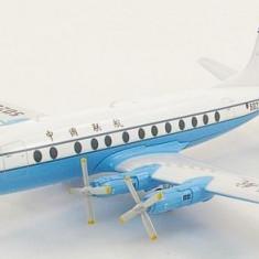 Macheta avion Vickers Viscount China United Airlines - HOBBY MASTER 1:200 - Macheta Aeromodel
