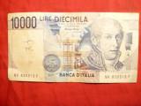Bancnota 10 000 lire 1984 Italia , cal.Buna