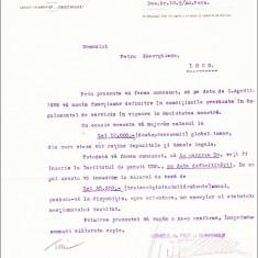REGATUL ROMANIEI. Uzinele de fier, Resita, Adresa numire in functie, 1936