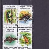 Fauna, broaste, testoase, Uruguay. - Timbre straine, Nestampilat