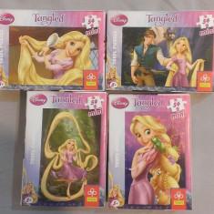 Set 4 Mini Puzzle Altele Trefl 54 piese - Tangled - Disney, 4-6 ani, Carton, 2D (plan), Unisex