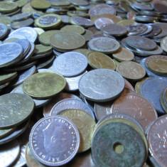 Lot (3) mare 500 monede vechi romanesti si straine, monezi bani diverse tari - Moneda Romania