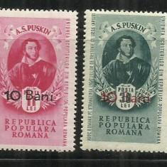 ROMANIA 1952 - A.S. PUSKIN - LP 300 - MNH - Timbre Romania, Nestampilat