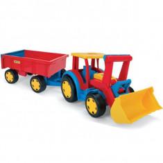 Tractor Gigant Cu Escavator Si Remorca
