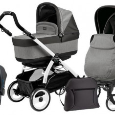 Carucior 3 In1 Book Plus 51 Black&White Pop-Up - Carucior copii 3 in 1 Peg Perego
