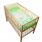Lenjerie Mykids Teddy Norisori Verde 4 Piese 120X60 Cm - Lenjerie pat copii