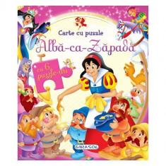 Carte Cu Puzzle Alba Ca Zapada - Carte educativa