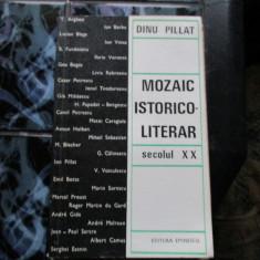 MOZAIC ISTORICO-LITERAR DINU PILLAT