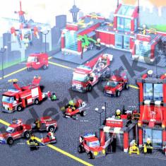 Joc de contructie - statie de pompieri 774 piese - Jocuri Seturi constructie