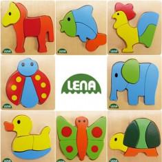 Puzzle Lena Lemn Animale
