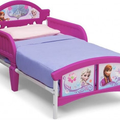 Pat Cu Cadru Metalic Disney Frozen - Pat tematic pentru copii, 140x70cm
