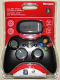 Controller Xbox 360 Compatibil Pc Wireless Black, Microsoft