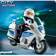 Motocicleta Politiei - Masinuta electrica copii Playmobil