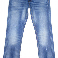 Blugi SUPERDRY (Slim) - (MARIME: 32 x 32) - Talie = 88 CM / Lungime = 112 CM - Blugi barbati, Culoare: Albastru, Prespalat, Slim Fit, Normal