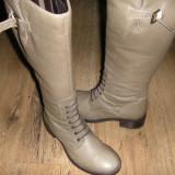 Superbe cizme/bocanci inalti  dama NOI piele manusa Sz 36 !