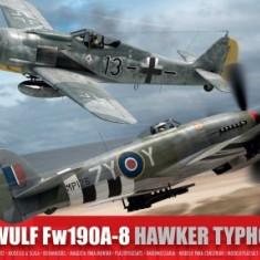 Airfix Set 2 Avioane Focke Wulf Fw190a-8 Si Hawker Typhoon Ib Scara 1:72 - Set de constructie