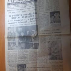ziarul informatia bucurestiului 2 septembrie 1976-inaugurarea magazinului unirea