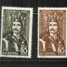 ROMANIA 1957 - 500 DE ANI URCAREA PE TRON A LUI ST. CEL MARE - LP 427- MNH - Timbre Romania, Nestampilat