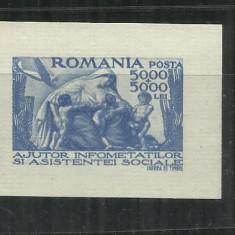 ROMANIA  1947 - SECETA - COLITA NEDANTELATA, MNH - LP 207