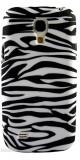 Husa silicon ZEBRA Samsung Galaxy S4 mini  + folie protectie cadou, Alb, Carcasa