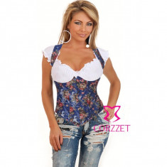 Lenjerie Lady Lust Sexy 201 Babydoll Corset Broderie Burlesque Bikini Balconette