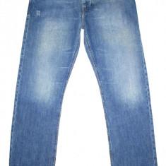 Blugi ZARA - (MARIME: 32) - Talie = 86 CM / Lungime = 111, 5 CM - Blugi barbati Zara, Culoare: Albastru, Cu rupturi, Drepti, Normal